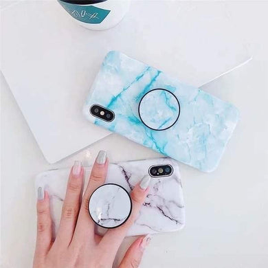 White & Blue Marble Slim Case Cover - ShopOnCliQ
