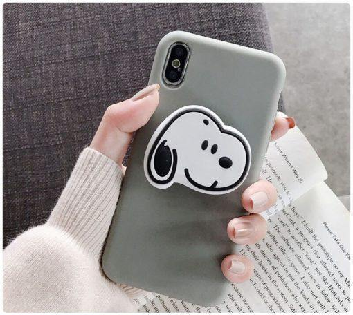 Plain Stuff Multicolour Case With Snoopy Phone Holder - ShopOnCliQ