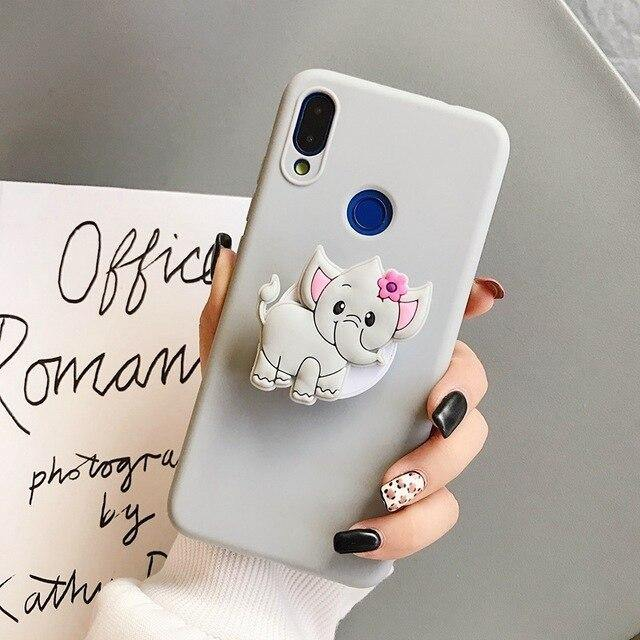 Cartoon Cute Animal Bracket Phone Case With Holder - ShopOnCliQ