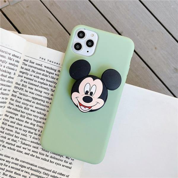 Cartoon Family Slim Matte Case With  Holder - ShopOnCliQ