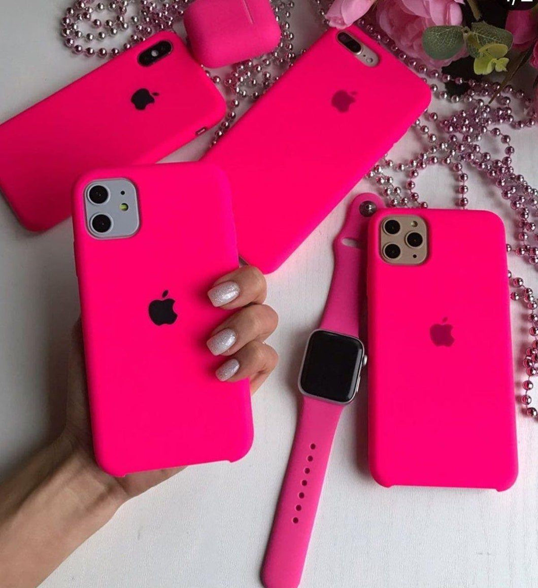 iPhone Liquid Silicon Case  (Barbie Pink) - ShopOnCliQ