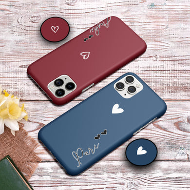 Heart Patter Print Hard Slim Matte Case - ShopOnCliQ