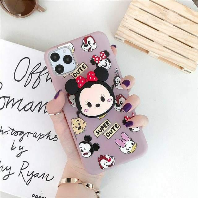 Super Cute Mickey & Minnie Mouse Slim Phone Case Cover - ShopOnCliQ