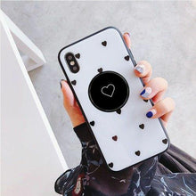Load image into Gallery viewer, Sweet Heart Pattern Glass phone Case With Holder - ShopOnCliQ