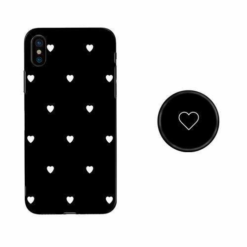 Sweet Heart Pattern Glass phone Case With Holder - ShopOnCliQ
