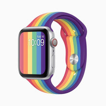 Load image into Gallery viewer, Pride Rainbow Silicon Sport Strap Band for iWatch - ShopOnCliQ