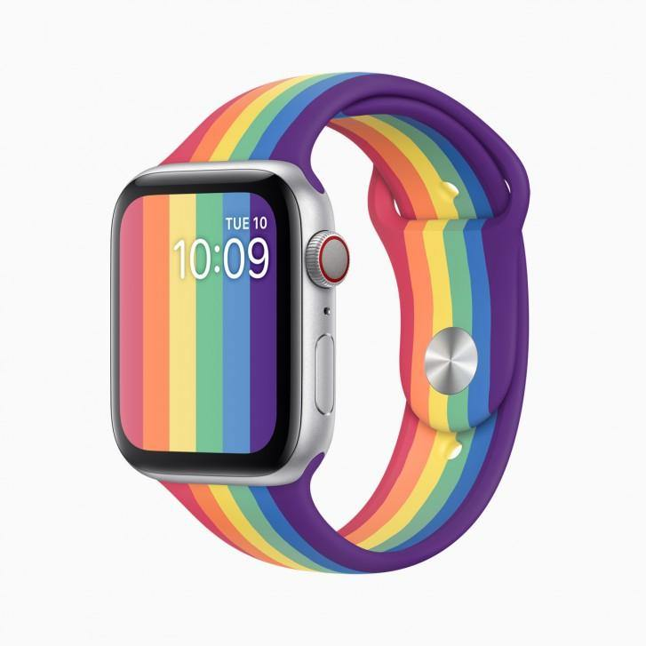 Pride Rainbow Silicon Sport Strap Band for iWatch - ShopOnCliQ