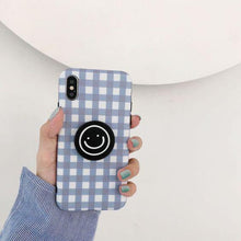 Load image into Gallery viewer, Cute Plaid Cartoon Smile Face Phone Case Cover - ShopOnCliQ