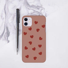 Load image into Gallery viewer, Heart Patter Print Hard Slim Matte Case - ShopOnCliQ