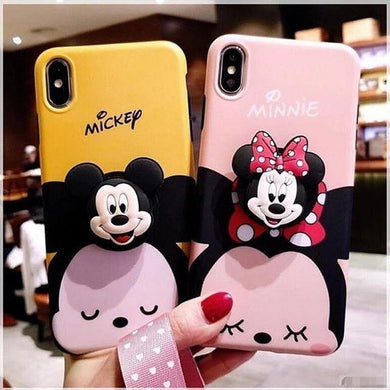 Cute 3D Micky & Minnie Mouse Design Slim Case Cover - ShopOnCliQ