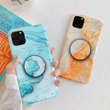 Load image into Gallery viewer, Lack Smooth Colorful Marble Granite Stone Phone Case Cover - ShopOnCliQ