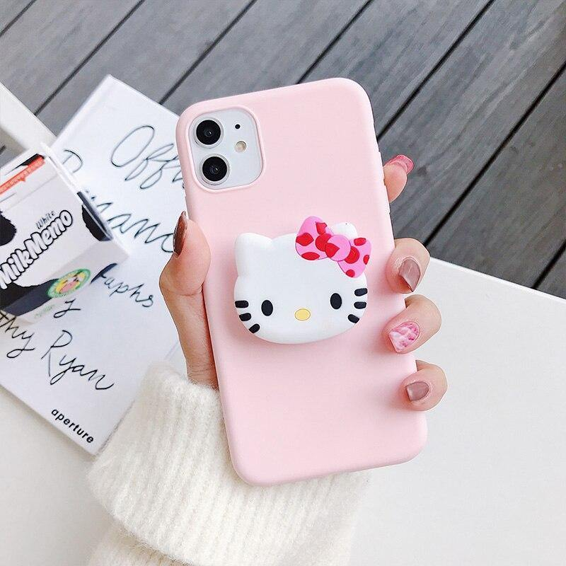 Cute Kitty Cartoon holder stand Case Cover - ShopOnCliQ