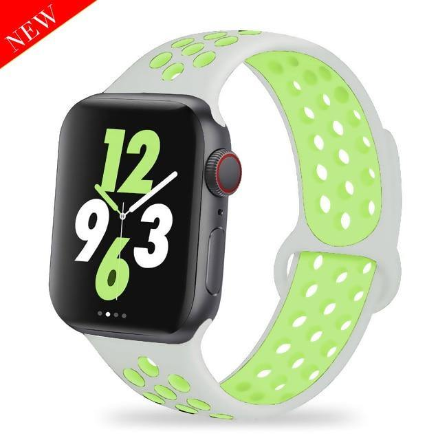 Strap for Apple watch band 40mm 44mm/42mm/38mm Accessories Silicone belt Sport bracelet iWatch series 5 4 3 2 40 38 42 44 mm - ShopOnCliQ