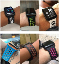 Load image into Gallery viewer, Strap for Apple watch band 40mm 44mm/42mm/38mm Accessories Silicone belt Sport bracelet iWatch series 5 4 3 2 40 38 42 44 mm - ShopOnCliQ