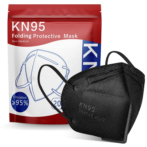 KN95 Face Mask 20Pcs(black)