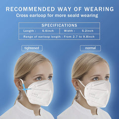 KN95 Face Mask 20 PCs Filter Efficiency≥95%(White)