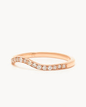 Load image into Gallery viewer, Baby Venus Half Eternity Band – White Diamonds
