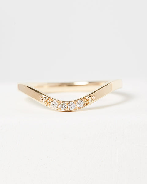 Curved Pavé Diamond Band