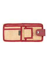 Load image into Gallery viewer, JUTE WALLET 2 FOLD FLAP (A-141-MAROON)