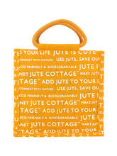 Load image into Gallery viewer, 10 X 10 JUTE COTTAGE BOTTLE BAG (B-053-YELLOW)