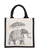 Load image into Gallery viewer, 10 X 10 ELEPHANT PRINT ZIPPER (B-074-BLACK)