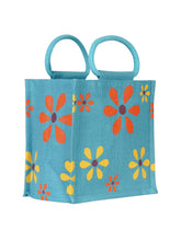 Load image into Gallery viewer, 10X10 MULTI FLOWER LUNCH (B-106-TURQUOISE BLUE)