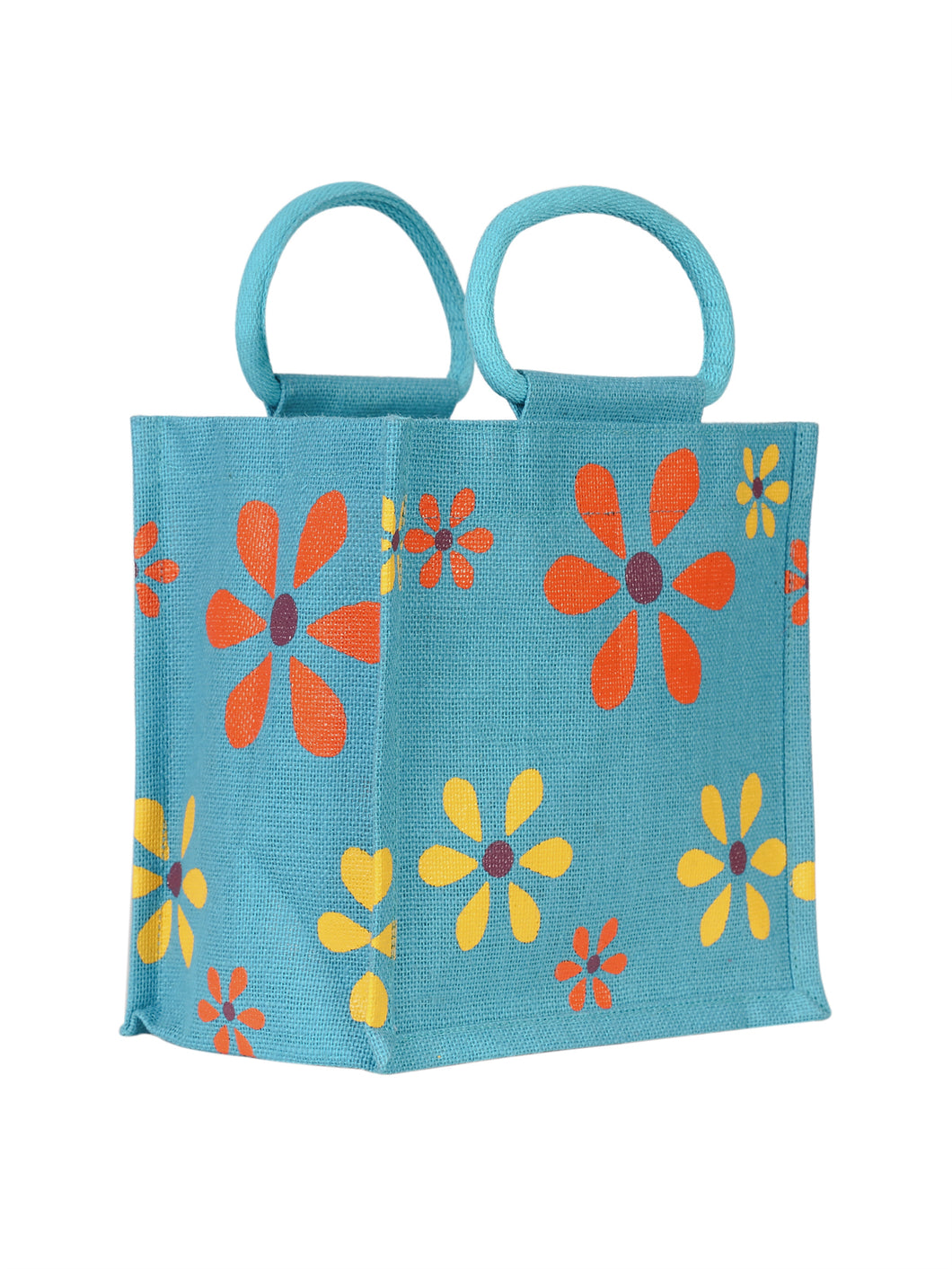 10X10 MULTI FLOWER LUNCH (B-106-TURQUOISE BLUE)