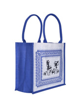 Load image into Gallery viewer, 14 X 16 WARLI PRINT BAG (B-059-BLUE)
