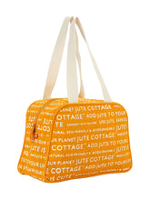 Load image into Gallery viewer, TAPE HANDLE LUNCH (JUTE COTTAGE PRINTED) - (B-035-YELLOW)
