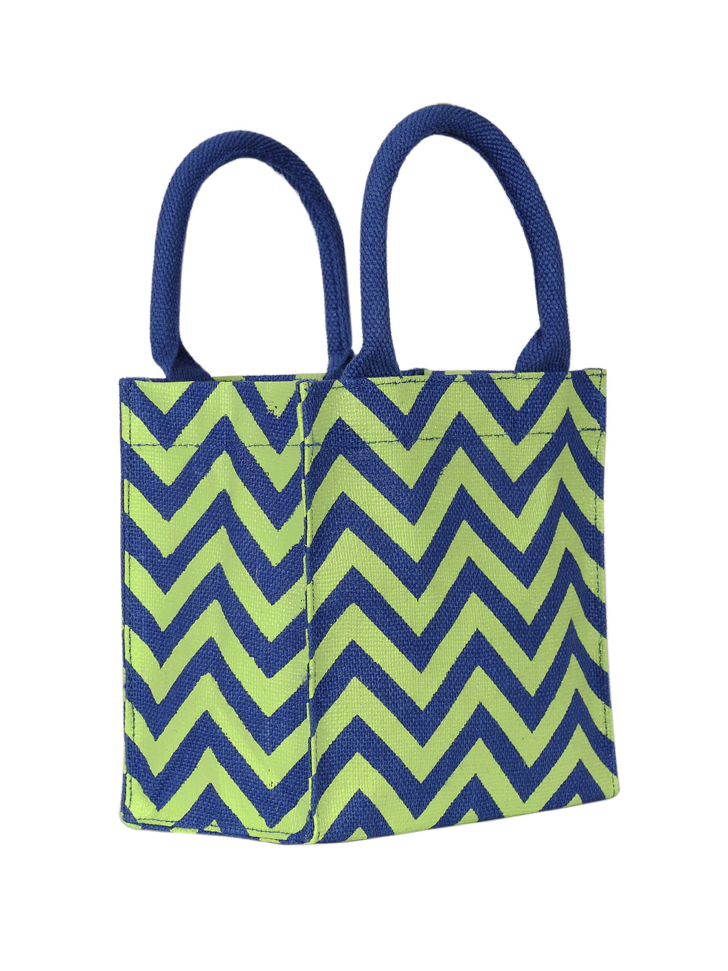 8X8 ZIG ZAG LUNCH (B-148-BLUE)