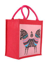 Load image into Gallery viewer, 12 X 12 DOUBLE ZEBRA PRINT BAG (B-072-PINK)