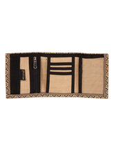 Load image into Gallery viewer, JUTE WALLET 3 FOLD (A-020-BLACK)