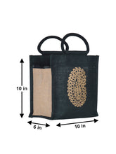 Load image into Gallery viewer, 10 X 10 PAISLEY ZIPPER LUNCH (B-014-BLACK)