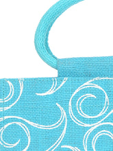 Load image into Gallery viewer, 10 X 10 ALL OVER ZIPPER LUNCH  (B-022-TURQUOISE BLUE)