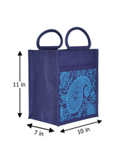 Load image into Gallery viewer, 11X10 PAISLEY PRINT ZIPPER (B-169-NAVY BLUE)