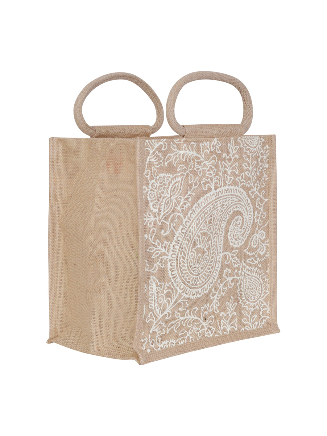 11X10 PAISLEY PRINT ZIPPER (B-169-NATURAL)