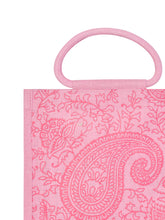 Load image into Gallery viewer, 11X10 PAISLEY PRINT ZIPPER (B-169-BABY PINK)
