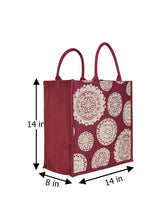 Load image into Gallery viewer, 14X14 FLORAL CHAKRA PRINT (B-165-MAROON)