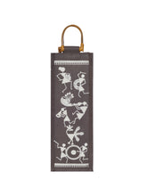 Load image into Gallery viewer, BOTTLE BAG WARLI PRINT 2 (B-163-BROWN)