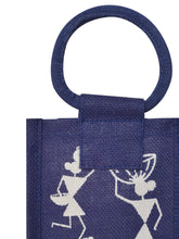 Load image into Gallery viewer, BOTTLE BAG WARLI PRINT 2 (B-162-BLUE)