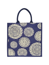 Load image into Gallery viewer, 14X14 FLORAL CHAKRA PRINT (B-165-BLUE)