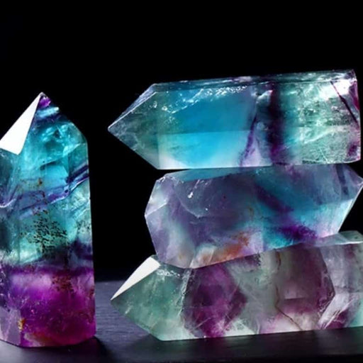 Multi-Colored Natural Fluorite Wand
