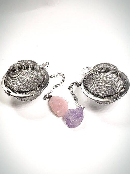 Amethyst Charm Infusers with Tea bomb Pack