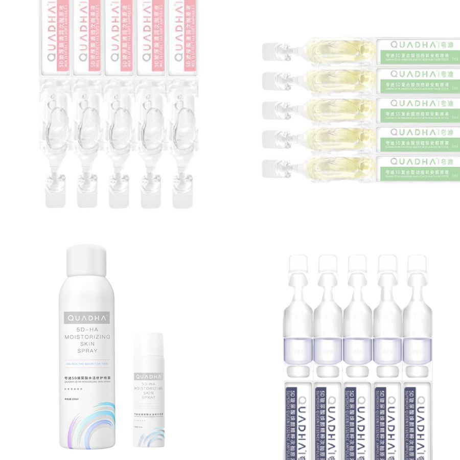 QuadHA | Hyaluronic Acid Skincare Starter Pack [FREE 50ML SPRAY FOR A LIMITED TIME]