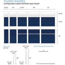 Load image into Gallery viewer, Hush Panels - 6ft w/window (1.82m) High