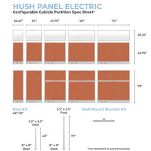 Load image into Gallery viewer, VERSARE - Hush Panels Electric - 6ft w/window (1.82m) High