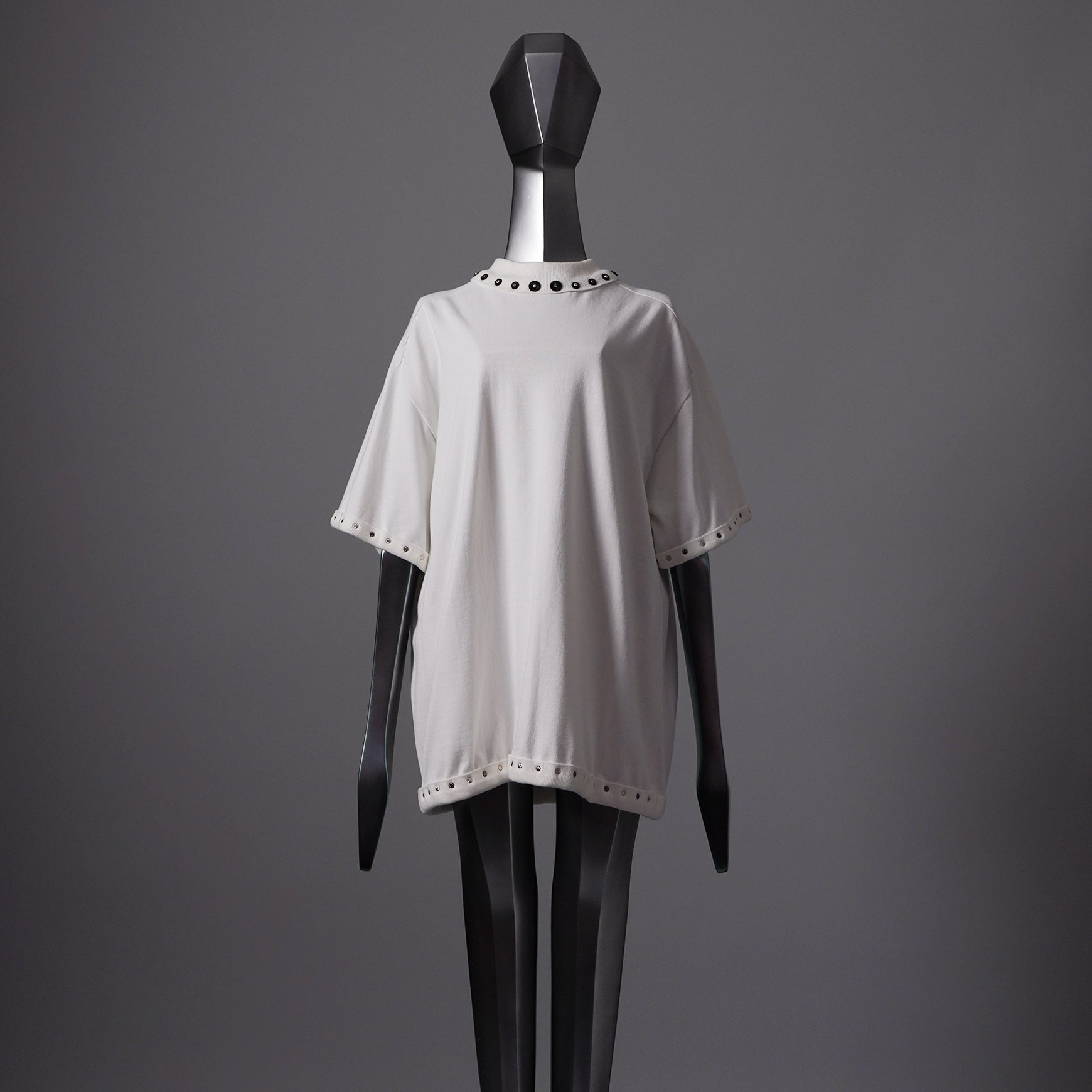 TYPE-1 Knit Organic Cotton Half Sleeves with Black Washer (White)