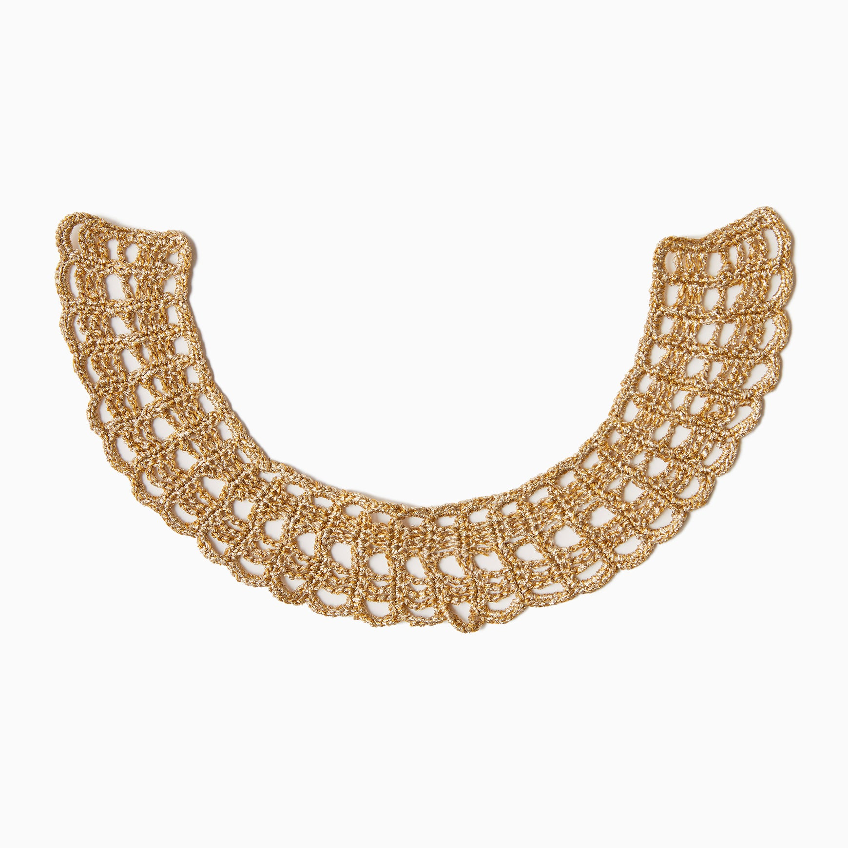 TYPE-1 ATLAS Flat Collar Part Hand Knit (Gold)