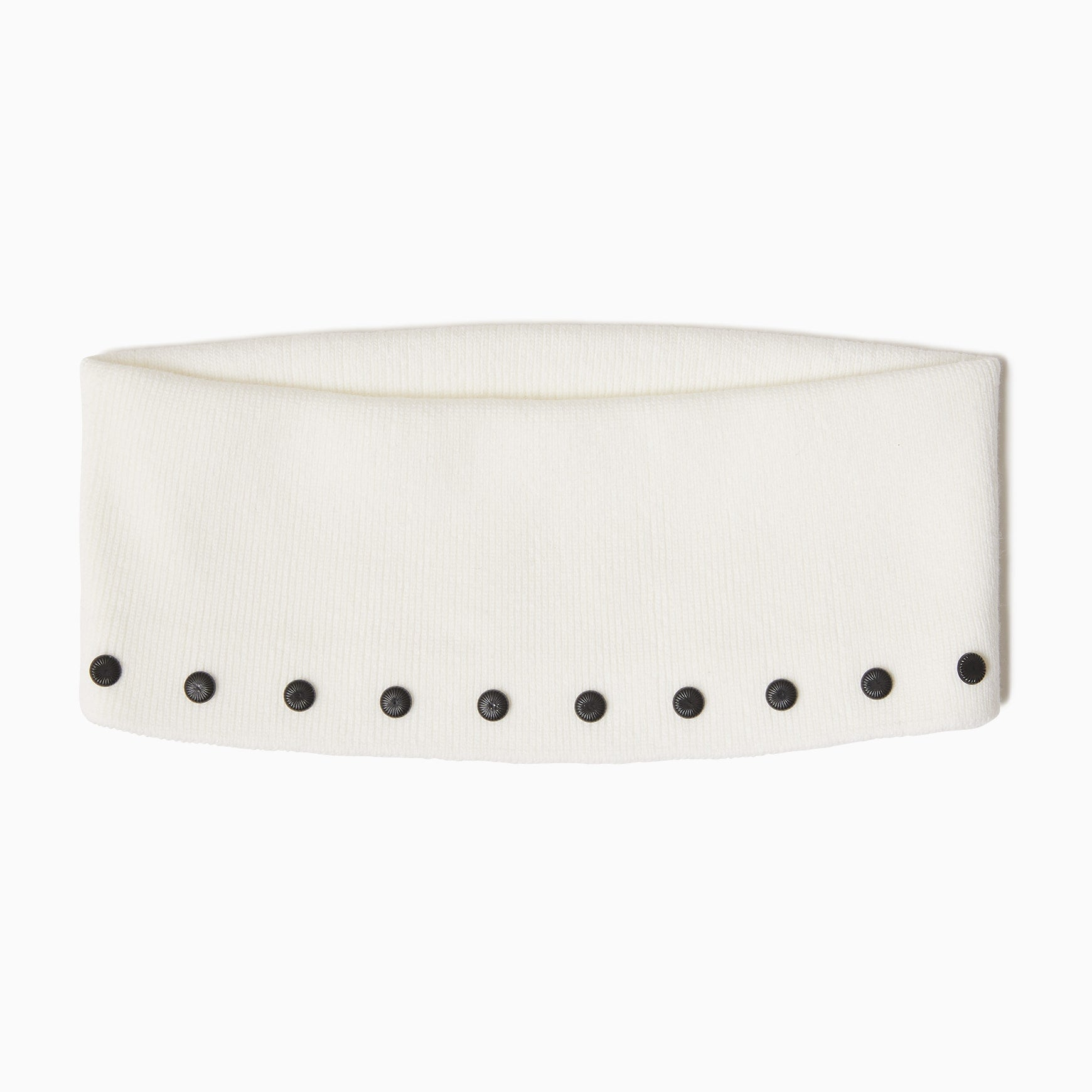 TYPE-1 Knit Organic Cotton Turtle Neck Collar Part (White)