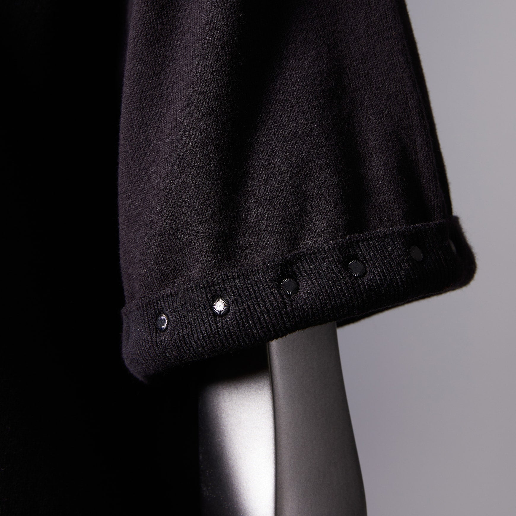 TYPE-1 Knit Half Sleeves Organic Cotton Sleeve Parts (Black)